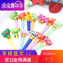 Childrens toys color blowing dragon blowing Roll Party cheer funny whistle blow dragon Creative children 24