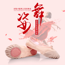 Childrens Velvet dance shoes soft bottom girl dancing practice shoes adult white red Ballet shoes male cat claw shoes