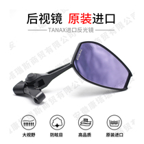 Motorcycle rearview mirror modification wide-angle anti-dazzling large field of view TANAX original imported accessories mirrorless universal