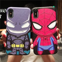 Q version Spider-Man China for P30 mobile phone shell P20 glory 8x fall protection glory 10 Batman Pro animation