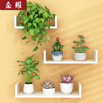 Living room wall mini flower rack shelf hanging frame hanging lily flower shelf multi-storey interior walls save space