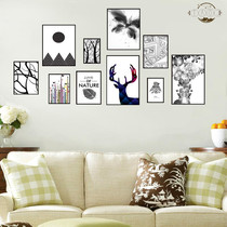 Self-adhesive photo wall creative back glue sticker living room decorative wall painting Nordic small fresh abstract animal