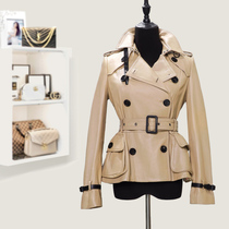 2021 new Haining leather leather womens sheepskin spring and autumn short coat ins small shopping mall with the same