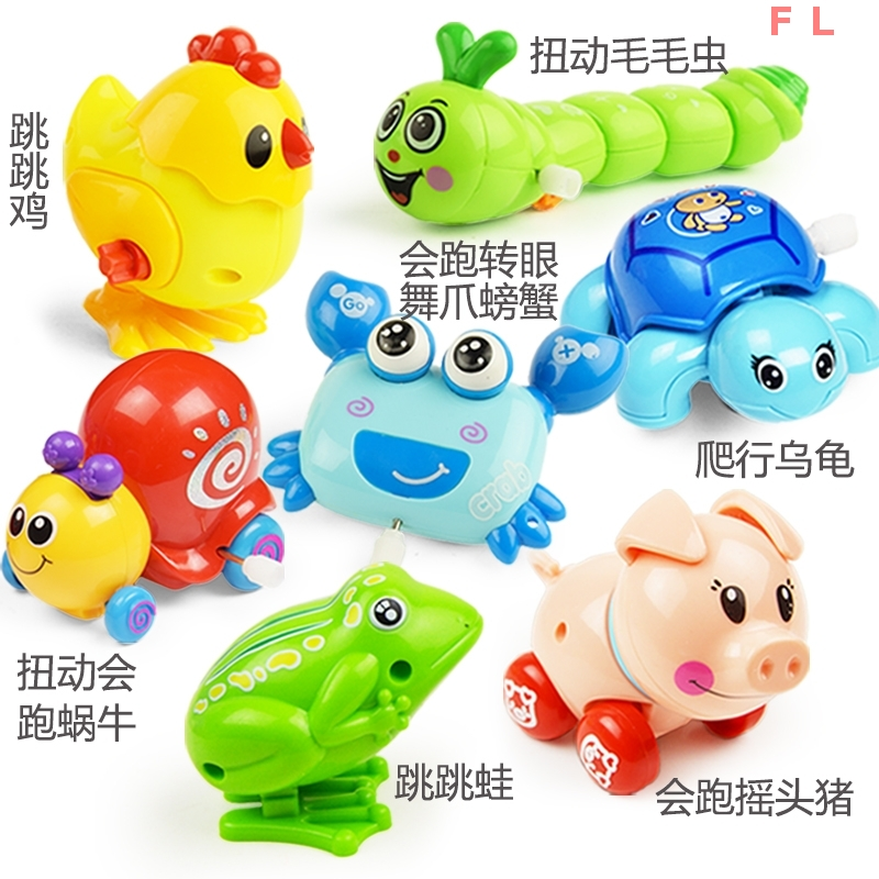 Babies and Babies Clockwork Toys Run Small Animals, Babies and Babies Strong Tin Frog 0-1 Years Old