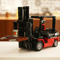 High-heavy forklift engineering vehicle series assembly building blocks electric remote control machinery group high difficulty type boys