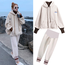 Pregnant women spring suit fashion models of Western fashion blouse spring and autumn maternity dress freaky personality pregnancy suit two sets