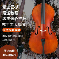 Yu Qiao imported spruce hand-crafted professional solid wood primary violin adult European material inspection test cello