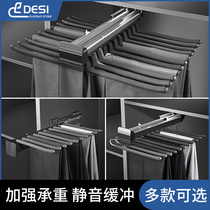 Wardrobe panty rack telescopic household pull-out multi-function pants pull-out rack Slide drawer top-mounted push-pull hardware accessories