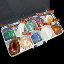 Natural Crystal raw ore stone specimens a variety of mineral crystals children popular science teaching stone gift box