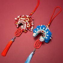 Chinese Feng Beijing Opera Flower Dan headdress pendant opera character Facebook car pendant gift to send foreigners abroad