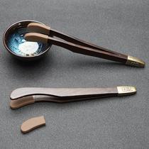 Tea clip Tea cup Tea clip Wooden tweezers Tea making tools Kung Fu tea accessories Tea ceremony Six gentleman set