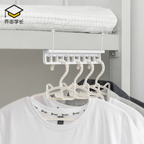 Hanging clothes artifacts student dormitory bedroom unmarked hook up and down 牀 head wall-mounted storage floor rack bedroom hanger