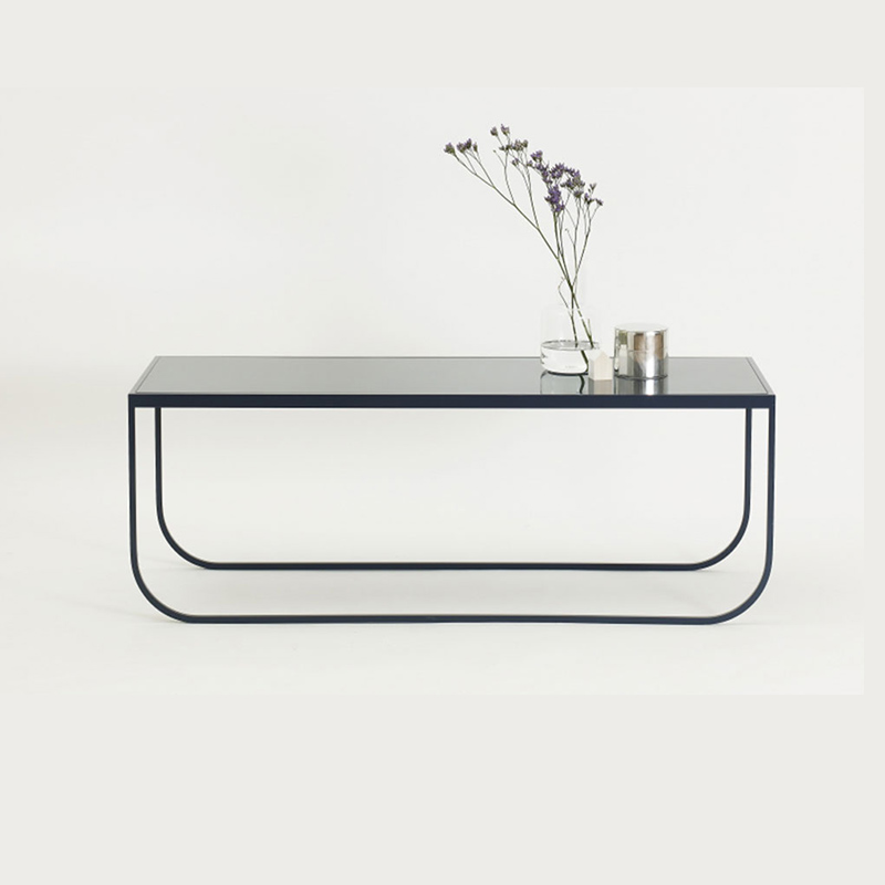 European-style ins tempered glass tea several with light luxury small household-type side a few modern simple marble iron corner several