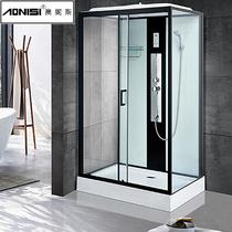 Rectangular shower room whole bathroom enclosed bathroom steam bath glass door partition small household