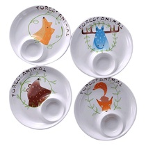 Jingdezhen creative simple multi-functional cartoon meal ceramic dumpling plate with vinegar plate home with water dumpling plate home plate.