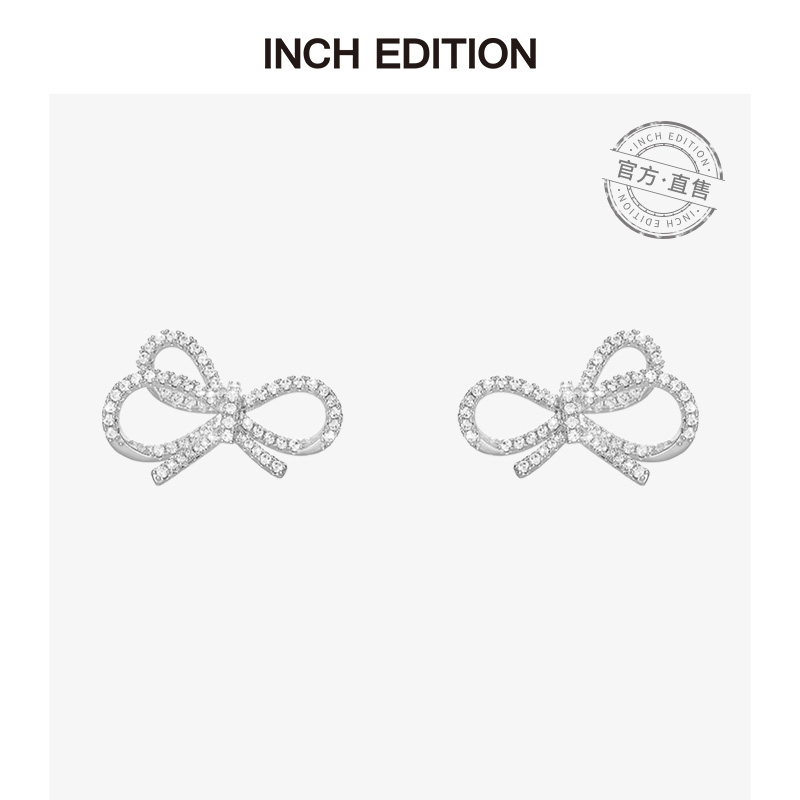 Pre-sale 20 days INCHEDITION (Wei Ya recommended)bow senior sense temperament simple ins wind earrings