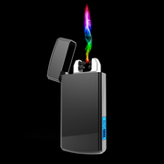 The lighter charge USB laser electronic double arc wind sent her photo engraving men's creative personality