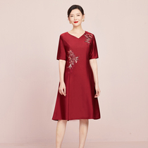 Xi mother-in-law wedding banquet noble young mother to attend wedding wedding dress large size wedding dress small man