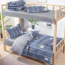 Pure cotton 牀 single three-piece 牀 supplies a full set of cotton student dormitory bedding room single bedding set six