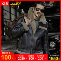 Thickened sheepskin fur one mens fur leather leather clothing