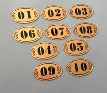 Number plate Room number Shoe cabinet sticker Private room company table table Bold number plate Department card Kindergarten door sticker