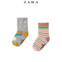ZARA new baby Toddler two two-pack special fabric socks 04934584803