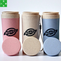 Trend Dickies Cup male and female students plastic cup Emperor wheat Incense ins gift Custom Tide brand Logo water Cup