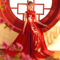 Thin summer Chinese red slim-fit toasting suit