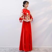 Xiu wo dress Bride 2018 new wedding chinese wedding dress Hijab Toast Chinese wind costume married dress girl