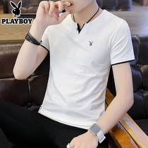 Playboy v Collar Pure Color thin Korean version of the trend of the bottom shirt