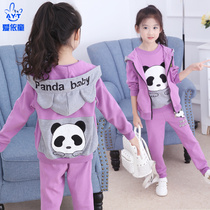 Childrens clothes girls 2020 new childrens Korean version of spring clothing Network red sports suit little girl clothes foreign fashion