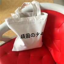 Tide female bag zipper canvas bag female shoulder bag student bag shopping bag bag autumn