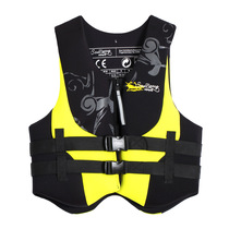 Export of European and American original single professional adult life jacket life saving clothes buoyancy back impetuous submersible warm life jacket motorboat