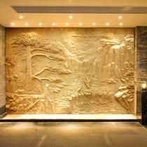 Профессиональные изготовленные на заказ 巖 стекловолокна имитация медного рельефа фоновая стена гейбл фигура скульптуры тиснением декоративные фрески