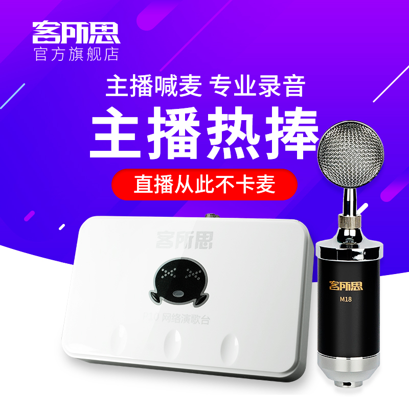 Passenger Institute P10 Set USB Dual External Sound Card Network K Song Call YY Voice Equipment for Mai Audio Recording Live Broadcasting
