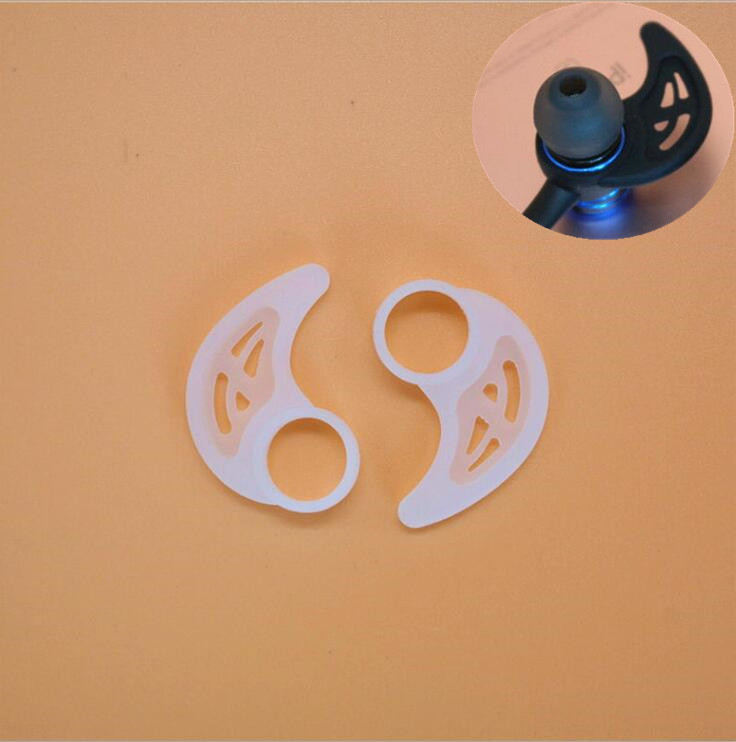 Silicone ear hook for ear-type earphone to prevent falling off and soft hook to fix Bluetooth parts of ear wing