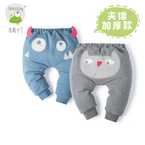 Luosixiaoding spring baby gender baby cotton-crotch pants