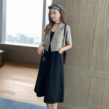 Five Seasons Fat Sister mm Belly Covering Suit Female Early Autumn 2009 New Slim Dress Temperament Suit Coat