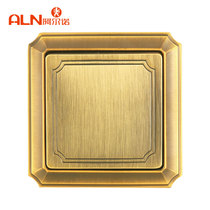 Arnault Tuhao Gold Switch 90 bronze one open dual-control 86 type connected Dark home decorative switch panel