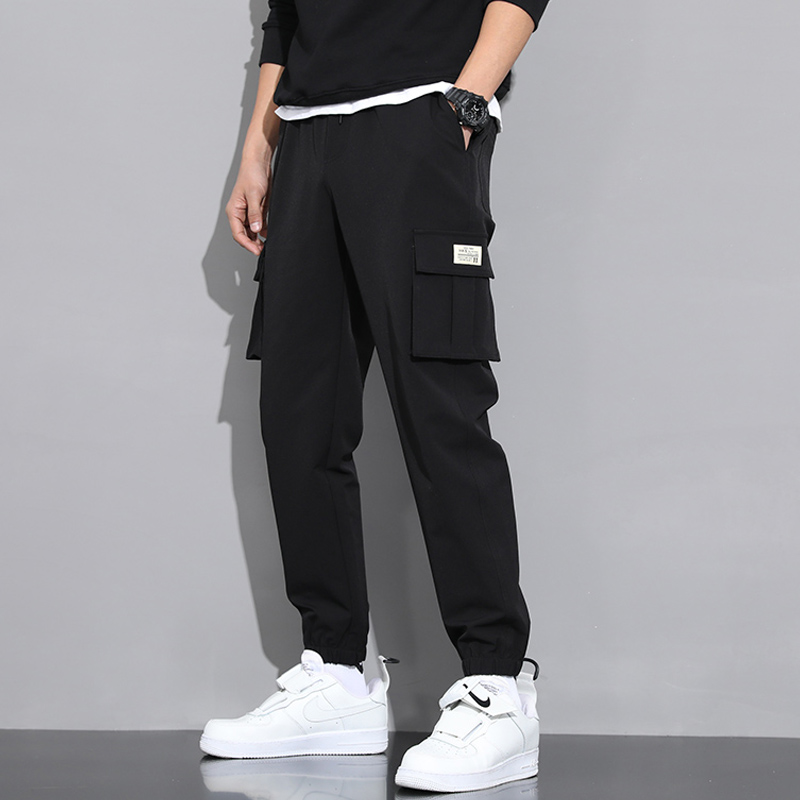 Work pants mens tide brand spring and autumn loose ins trend leggings casual trousers a hundred handsome Korean version of pants men