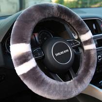 Couverture de volant en laine Pure hiver nouvelle fourrure et fourrure un unisexe chaud antidérapant court en peluche poignée de voiture couverture