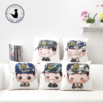 Zeng cartoon military Love Gift expression bag Pillow was