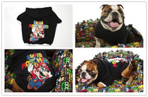 British Bulldog clothes Bully dog English bucket fat dog clothes tide brand clothes in winter and autumn law fighting dog