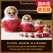 Russian set 10 floor 10 layer jitter Genuine puzzle toys Pure handmade creative birthday gift Imported Toys