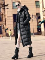 冬季加厚黑色大码绒大衣