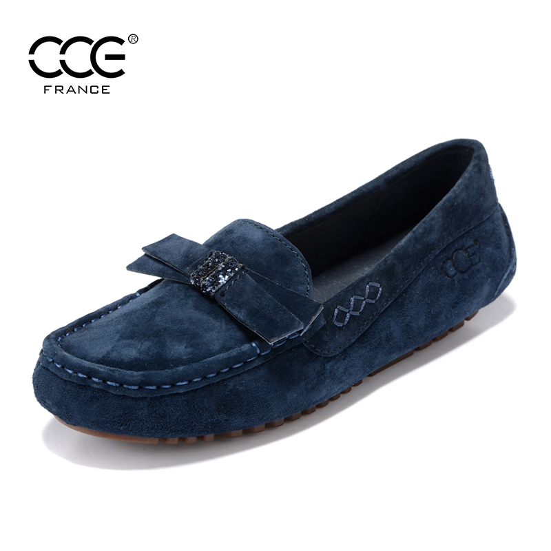 French CCE spring and summer leather shoes, single shoes, breathable beans shoes, women's shoes, fashionable driving shoes, casual shoes 9193