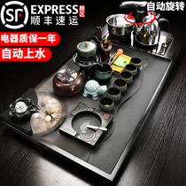Yu Deu Jinshi kung fu tea set purple sand household water atomized tea plate fully automatic induction cooker tea table