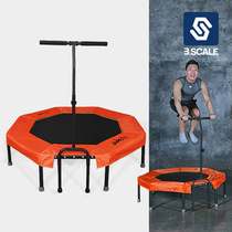 Dom Adult trampoline children home indoor jumping bed folding with handrail gym special spring jumping bed