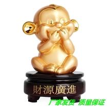 Zodiac monkey three monkeys monkey gold monkey ornaments creative cute home living room decoration crafts decoration