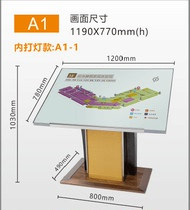 Hotel lobby signage floor total level map shopping mall vertical guide signs display index card floor signs